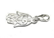 Genuine Solid Silver 925 hamsa lucky hand clip on charm ideal for Thomas Sabo bracelet or necklace
