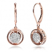Reversible Black and White Round Diamond Earrings 5/8 carat (ctw) in 14k Rose Gold