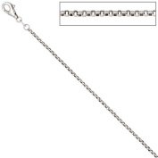 1.5 MM with Pea Chain Necklace 925 Sterling Silver Shiny Chain 36 CM
