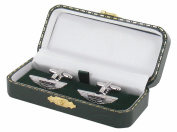 Aston Martin Cufflinks - Aston Martin Design Cuff Links in Green Luxury Antique Style Leatherette Gift Box - Aston Martin Gift