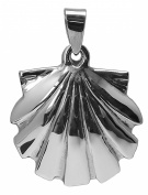 SEASHELL PENDANT 925 Sterling Silver 41mm Drop 3.1g Shell Scallop