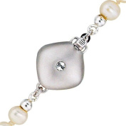 Clasp Closure Silver with Zirconia 925 Sterling Silver-Matte-Women's
