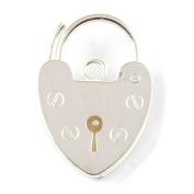 Sterling Silver 10mm Bracelet Heart Padlock Fastener - Perfect For Bracelets And Repairs