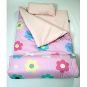 SoHo kids Flowers children sleeping slumber bag with pillow and carrying case lightweight foldable for sleep over