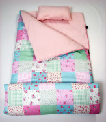 SoHo kids Charlotte's Flowers children sleeping slumber bag with pillow and carrying case lightweight foldable for sleep over