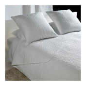 Alina Queen/king Size Quilted Bedspread with 2 Cushion Covers, White ~ Ikea