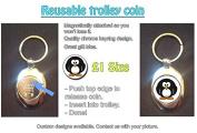 Cute Cuddly Penguin Shopping Trolley Keyring - Token