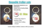 Lovebug/Ladybird - Cute Shopping Trolley Keyring - Token