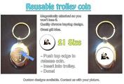 Panda - Animal Lovers Shopping Trolley Keyring - Token