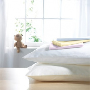Izziwotnot Cotton Pillow Case, White, Cot Bed, 2 Pack