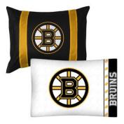 2pc NHL Boston Bruins Pillowcase and Pillow Sham Set Hockey Team Logo Bedding Accessories