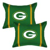 2pc NFL Green Bay Packers Pillow Sham Set MVP Football Team Logo Bedding Accessories