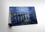 VINCENT VAN GOGH STARRY NIGHT 1888 OLD MASTER PAINTING GREETINGS CARD CL1184