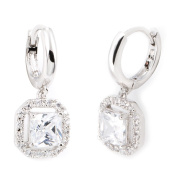 Simon Frank Collection Princess-cut Dangle Cubic Zirconia Earrings