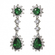 NEXTE Jewellery Pear and Round Cubic Zirconia Dangle Earrings