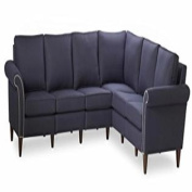 Homeware Pippa Three Corner Two Sectional Sofa, Midnight Blue, 91 by 290cm by 90cm