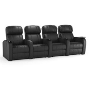 Octane Diesel XS950 Row of Four Seats Straight, Manual Recline, Black Premium Leather Home Theatre Seating
