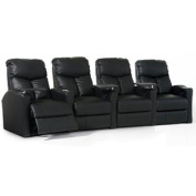 Octane Bolt XS400 Row of Four Straight, Manual Recline, Black Bonded Leather Home Theatre Seating