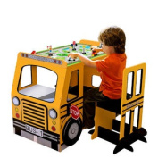 School Bus Play Table And Chair Set