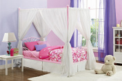 Canopy Twin Pink Metal Bed