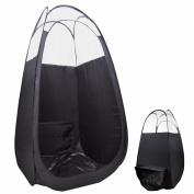 """AW Pop Up Black Airbrush Sunless Spray 45x 45"""" x 210cm Tanning Tent Booth Air Vent Clear Top Mobile w/ Bag"""