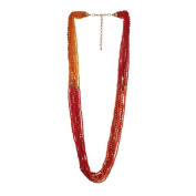 Alexa Starr Coral Seed Colour Block Bead Layered Necklace