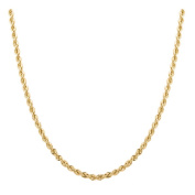 Sterling Essentials 14k Gold Plated Italian Laser-cut Rope Chain