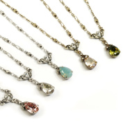 Sweet Romance Crystal Pears Necklace