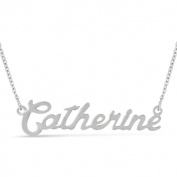 Silver Overlay 'Catherine' Nameplate Necklace