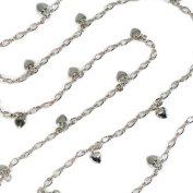 Sweet Romance Pewter Heart Charm Necklace