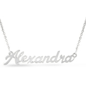 Silver Overlay 'Alexandra' Nameplate Necklace