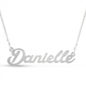 Silver Overlay 'Danielle' Nameplate Necklace