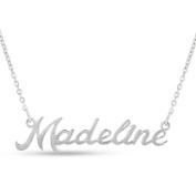 Silver Overlay 'Madeline' Nameplate Necklace