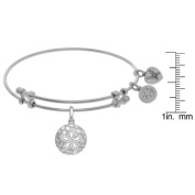 Angelica Sanddollar Charm with White Cubic Zirconia