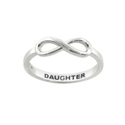 Eternally Haute Sterling Silver Daughter Infinity Ring