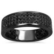 Noori 14k Black Gold 5/8ct TDW Black Round Diamond Wedding Band Ring