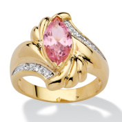 PalmBeach 2.05 TCW Marquise-Cut Pink Cubic Zirconia Ring in 14k Gold-Plated Colour Fun