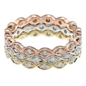 Beverly Hills Charm 10k Gold 3/5ct TDW Diamond Stackable Eternity Band Ring