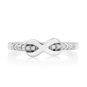 Sterling Silver Cubic Zirconia Infinity Midi Ring