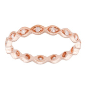 Beverly Hills Charm 10k Rose Gold 1/5ct TDW Diamond Eternity Stackable Band Ring
