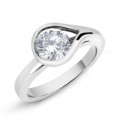 Sterling Silver Pear-cut Cubic Zirconia Ring