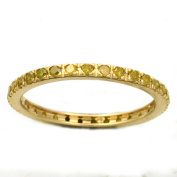 Beverly Hills Charm 14k Yellow Gold 1/2ct TDW Yellow Diamonds Eternity Stackable Band Ring