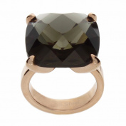 NEXTE Jewellery Rose Goldtone Grey Glass Solitaire Ring