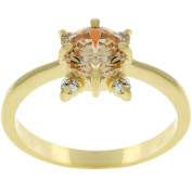 Kate Bissett Goldtone Clear Cubic Zirconia Promise Ring