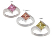 Icz Stonez Sterling Silver Coloured Cubic Zirconia Ring