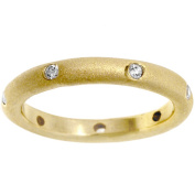 Kate Bissett Goldtone Matted Clear CZ Ring