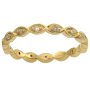 Beverly Hills Charm 10k Yellow Gold 1/5ct TDW Diamond Eternity Stackable Band Ring