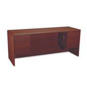 10700 Kneespace Credenza 3/4 Height Pedestals 72w X 24d X 29-1/2h Mahogany By
