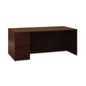 "10500 Series ""l"" Single Ped Desk Left Full-Height Ped 72 X 36 Mahogany By"