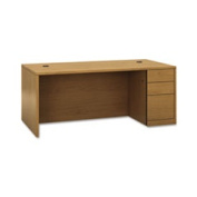 "10500 Series ""l"" Single Ped Desk Right Full-Height Ped 72 X 36 Harvest By"